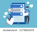 characters of a couple... | Shutterstock .eps vector #1173823519