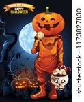 halloween  ghost  treat or...   Shutterstock .eps vector #1173827830