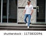 stylish tall arabian man model... | Shutterstock . vector #1173832096