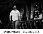 stylish tall arabian man model... | Shutterstock . vector #1173832216