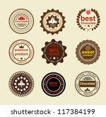 set of vintage and modern... | Shutterstock .eps vector #117384199