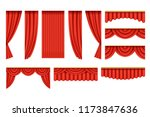 set of red curtains with...   Shutterstock .eps vector #1173847636