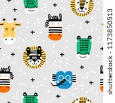 baby seamless pattern with hand ... | Shutterstock .eps vector #1173850513