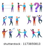 funny people characters showing ... | Shutterstock .eps vector #1173850813