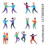 funny people characters dancing.... | Shutterstock .eps vector #1173850819
