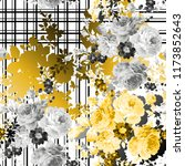 flowers pattern..for textile ... | Shutterstock . vector #1173852643