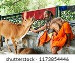 Sitting On The Parapet Sadhu ...