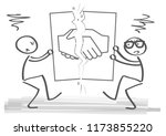 concept of disagreement. cancel ... | Shutterstock .eps vector #1173855220