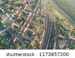 junction railway station with...   Shutterstock . vector #1173857200