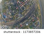junction railway station with...   Shutterstock . vector #1173857206