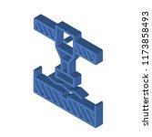 bending isometric left top view ...   Shutterstock .eps vector #1173858493