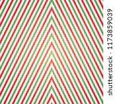 christmas red green white line... | Shutterstock .eps vector #1173859039