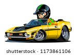 vector cartoon retro sport car... | Shutterstock .eps vector #1173861106