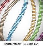Background With Colorful Rails...