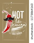 poster with mexican chili... | Shutterstock .eps vector #1173864163