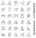thin line vector icon set  ... | Shutterstock .eps vector #1173864310