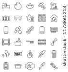 thin line vector icon set  ... | Shutterstock .eps vector #1173865213