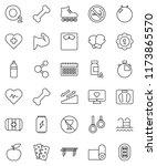 thin line vector icon set  ... | Shutterstock .eps vector #1173865570