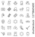 thin line vector icon set  ... | Shutterstock .eps vector #1173865600
