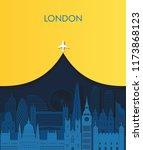 paper art london detailed...   Shutterstock .eps vector #1173868123