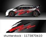 car decal wrap design vector.... | Shutterstock .eps vector #1173870610