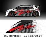 car decal wrap design vector.... | Shutterstock .eps vector #1173870619