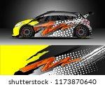 car decal wrap design vector.... | Shutterstock .eps vector #1173870640