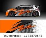car decal wrap design vector.... | Shutterstock .eps vector #1173870646