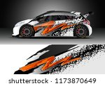 car decal wrap design vector.... | Shutterstock .eps vector #1173870649