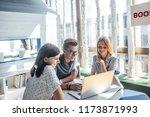 group of high school students... | Shutterstock . vector #1173871993