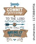 hand lettering commit your way... | Shutterstock .eps vector #1173884956