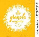healthy vegan snack granola... | Shutterstock .eps vector #1173887110