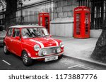 A Classic Red Mini Parked In...