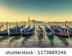 sunrise view of traditional... | Shutterstock . vector #1173889246