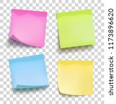 set of color sheets of note... | Shutterstock .eps vector #1173896620