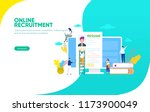 online recruitment vector... | Shutterstock .eps vector #1173900049