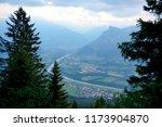wonderful alps view.... | Shutterstock . vector #1173904870