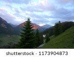 wonderful alps view.... | Shutterstock . vector #1173904873