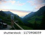 young man enjoys wonderful apls ... | Shutterstock . vector #1173908059