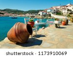 amphora on the waterfront in...   Shutterstock . vector #1173910069