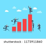 young happy businessman on the... | Shutterstock .eps vector #1173911860