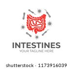 intestines and bacteria  logo... | Shutterstock .eps vector #1173916039