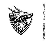 head of a dragon in the form of ...   Shutterstock .eps vector #1173919636