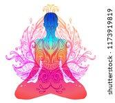 chakra concept. inner love ... | Shutterstock .eps vector #1173919819