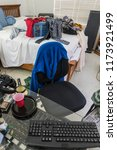 messy  cluttered teenage boys... | Shutterstock . vector #1173921499