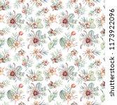 watercolor succulents seamless...   Shutterstock . vector #1173922096