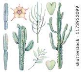 watercolor vintage succulents... | Shutterstock . vector #1173922099