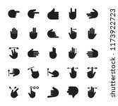 hand signs glyph icon     Shutterstock .eps vector #1173922723