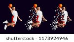 basketball player set... | Shutterstock .eps vector #1173924946