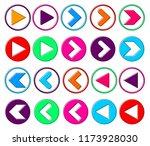 set arrow icons  outline design ...